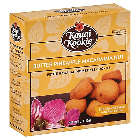 Kauai Kookie Butter Pineapple Macadamia Nut Cookies - 4 Oz