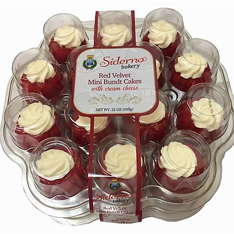 Bakery Cake Bundt Mini Red Velvet - Each