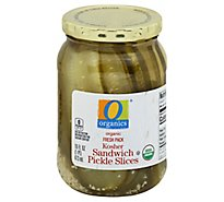 O Organics Organic Pickles Sandwich Slices Kosher - 16 Fl. Oz.