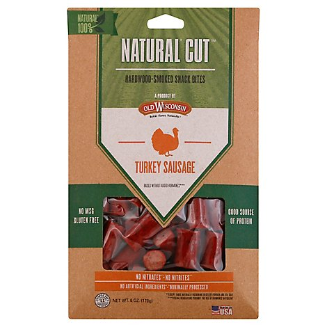 Old Wisconsin Natural Cut Turkey Snack Bites Shelf Caddy - 6 Oz