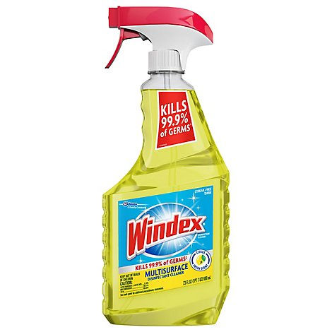Windex Disinfectant Cleaner Multi-Surface Trigger Citrus Fresh Scent 23 fl oz