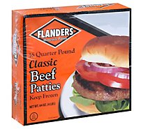 Flanders Beef Patties 1/4 Lb Frozen 4lb - 4 Lb