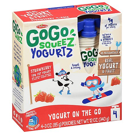 GoGo squeeZ YogurtZ Strawberry- 4-3 Oz