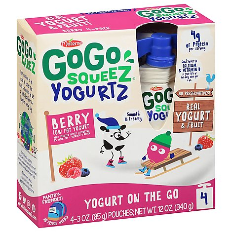 GoGo squeeZ YogurtZ Berry - 4-3 Oz