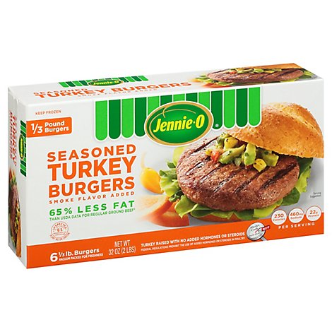 Jennie-O Turkey Store Turkey Seasoned Turkey Burgers - 2 Lb