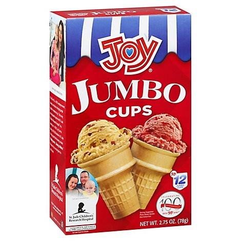 Joy Ice Cream Cups Jumbo 12 Count - 2.75 Oz