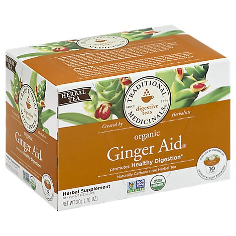 Traditional Medicinals Herbal Tea Organic K-Cup Digestive Ginger Aid - 10-0.07 Oz