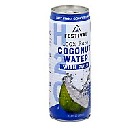 Festival Coconut Water Pure With Pulp - 17.5 Fl. Oz.