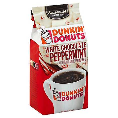 Dunkin Donuts Coffee Ground White Chocolate Peppermint - 11 Oz
