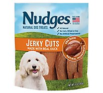Nudges Natural Dog Treats Jerky Cuts Made With Real Duck - 10 Oz