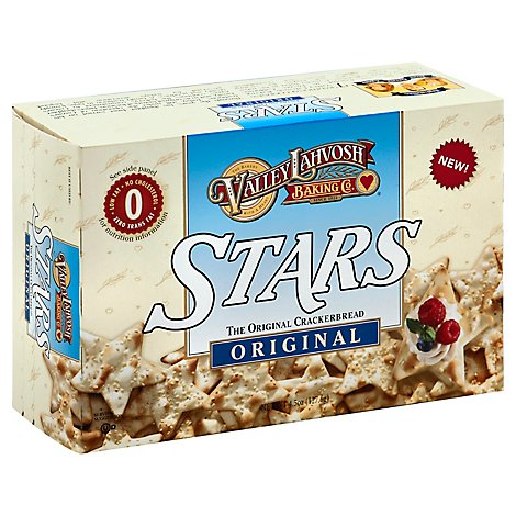Valley Lahvosh Baking Co. Crackerbread Stars Original - 4.5 Oz