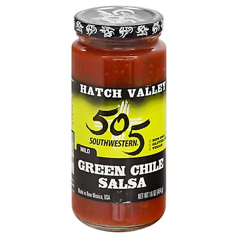 505 Southwestern Hatch Valley Salsa Green Chile Mild Jar - 16 Oz
