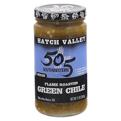 505 Southwestern Hatch Valley Green Chile Medium Flame Roasted Jar - 12 Oz