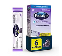 Pedialyte 6 pk Electrolyte Powder Powder Grape - 0.6 oz