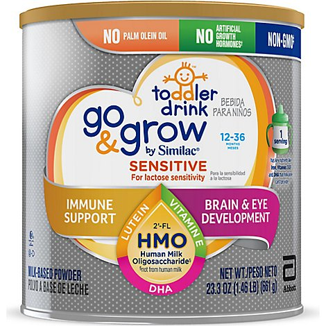 Go & Grow by Similac Sensitive Non-GMO Toddler Drink Powder - 23.3 oz