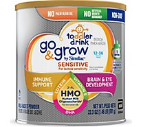 Go & Grow by Similac Toddler Drink Powder Sensitive Non GMO With 2 FL HMO - 23.3 Oz