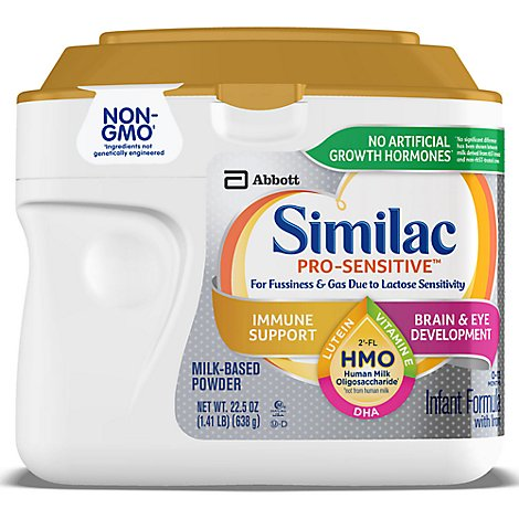 Similac Pro-Sensitive Infant Formula Non GMO with 2 FL HMO With Iron Powder - 22.5 Oz
