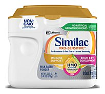 Similac Pro-Sensitive Non-GMO with 2-FL HMO Infant Formula with Iron Powder - 22.5 oz