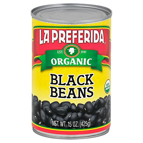 La Preferida Organic Beans Black Can - 15 Oz