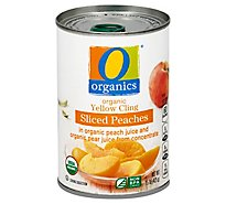 O Organics Organic Peaches Sliced - 15 Oz