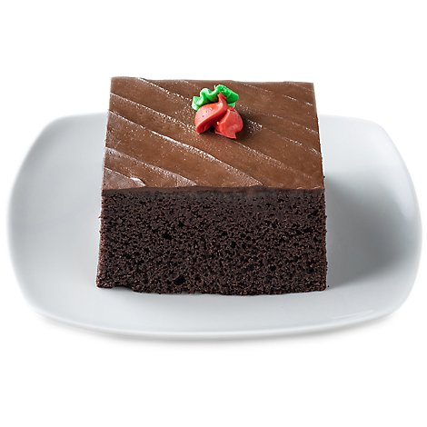 Bakery Cake Slice Signature Chocolate - Each (560 Cal)