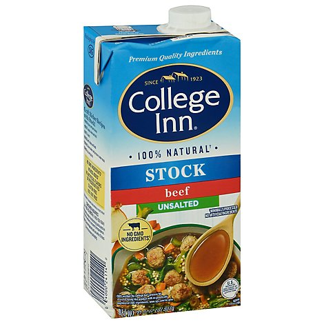 College Inn Stock Bold Beef Unsalted - 32 Oz