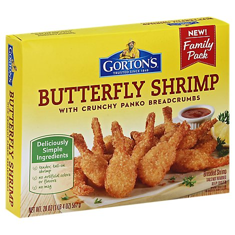 Gortons Family Pack Butterfly Shrimp - 20 Oz