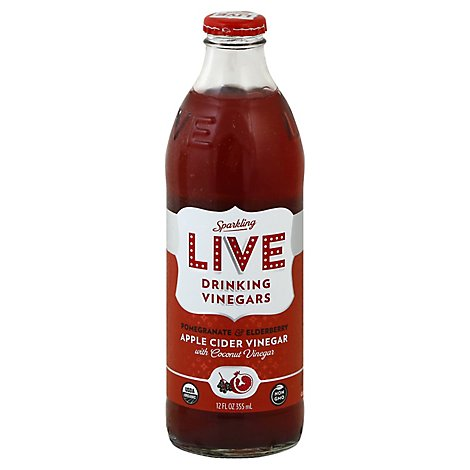 Live Soda Drink Vinegars Pmgrnt Eld - 12 Oz