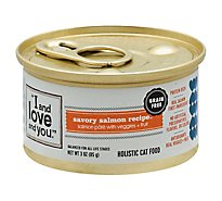I And Love And You Cat Food Natural Savory Salmon Recipe Can - 3 Oz