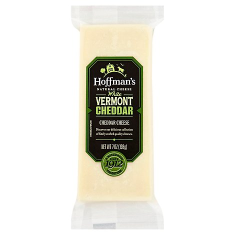 Hoffmans Cheese Cheddar White Vermont - 7 Oz
