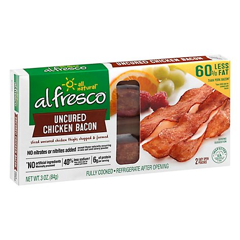 al fresco Chicken Bacon All Natural Original Uncured - 3 Oz