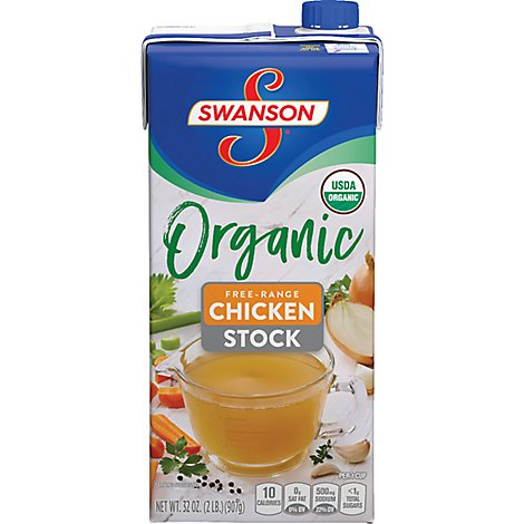 Swanson Organic Stock Chicken Free-Range - 32 Oz