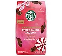 Starbucks Coffee Ground Flavored Peppermint Mocha Latte Bag - 11 Oz