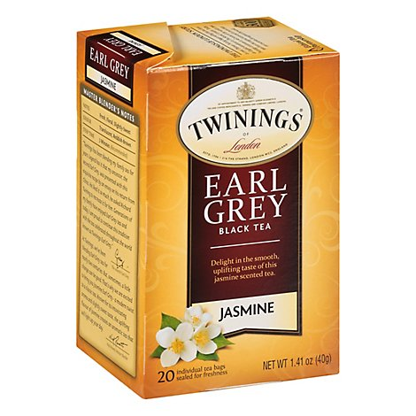 Twinings of London Black Tea Earl Grey Jasmine - 20 Count