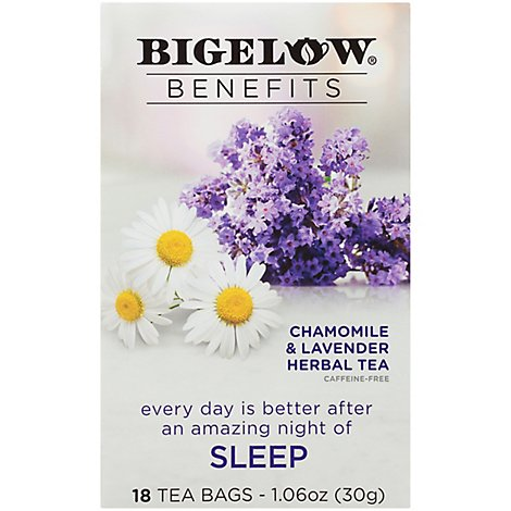 Bigelow Benefits Herbal Tea Chamomile & Lavender - 18 Count