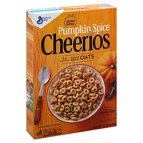 Cheerios Cereal Whole Grain Oats Pumpkin Spice Limited Edition - 12 Oz