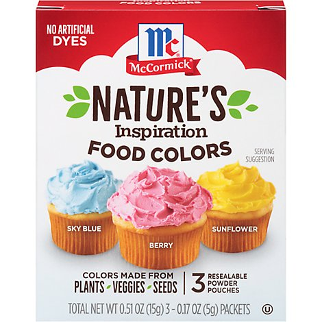 McCormick Natures Inspiration Food Colors - 3-0.17 Oz