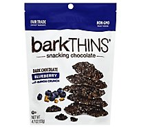 BarkThins Snacking Chocolate Dark Chocolate Blueberry With Quinoa Crunch - 4.7 Oz