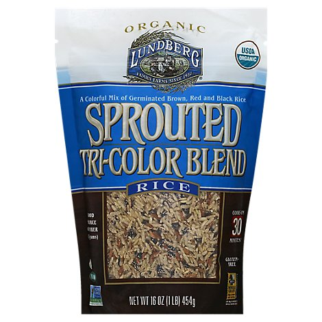 Lundberg Rice Organic Sprouted Tri-Color Blend - 16 Oz