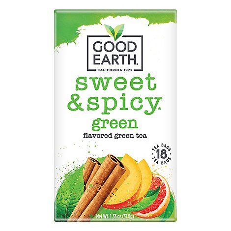 Good Earth Teas Sweet & Spicy Green Tea - 18 Count