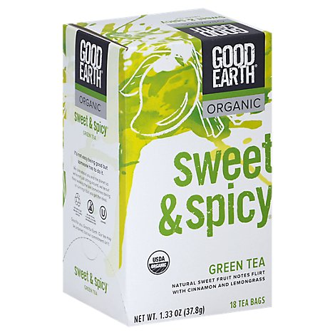 Good Earth Teas Sweet & Spicy Organic Green Tea - 18 Count