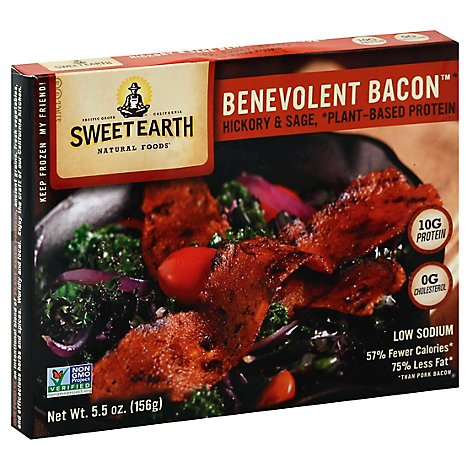Sweet Earth Natural Foods Bacon Benevolent Hickory & Sage - 5.5 Oz