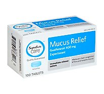 Signature Care Mucus Relief Guaifenesin Expectorant 400mg Immediate Release Tablet - 100 Count