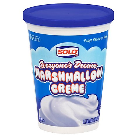 Solo Marshmallow Creme Everyones Dream - 13 Oz