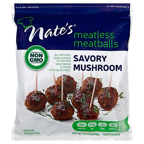 Nates Meatball Mtless Mshrm - 10.5 Oz