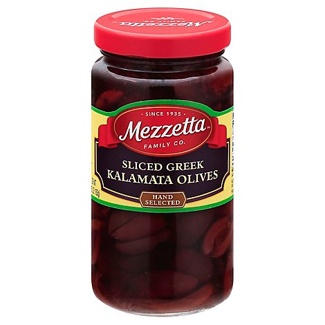 Mezzetta Olives Greek Sliced Kalamata - 5.75 Oz