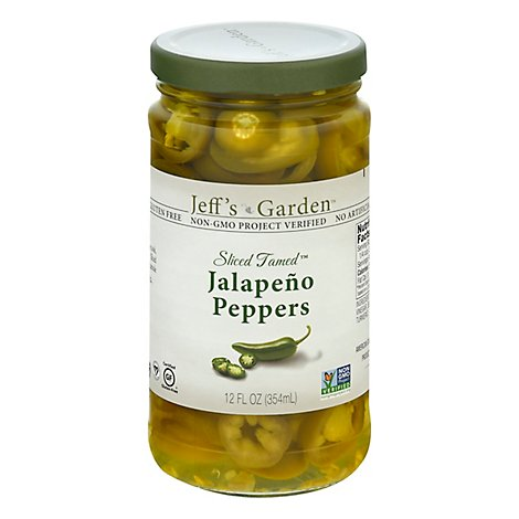Jeffs Naturals Peppers Jalapeno Sliced Tamed - 12 Fl. Oz.