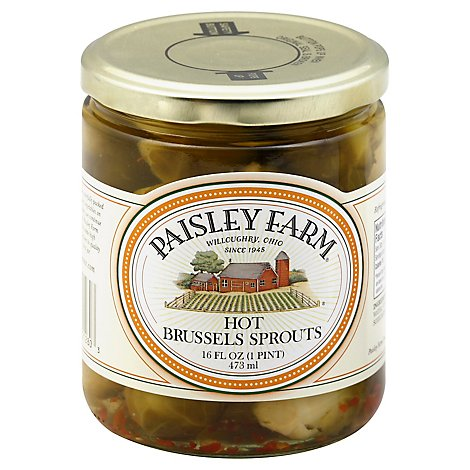 Paisley Farm Brussels Sprouts Hot - 16 Fl. Oz.
