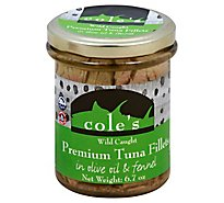 Coles Tuna Fillets Premium Wild Caught in Olive Oil & Fennel - 6.7 Oz