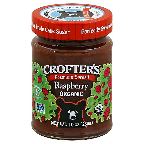 Crofters Just Fruit Spread Organic Raspberry - 10 Oz